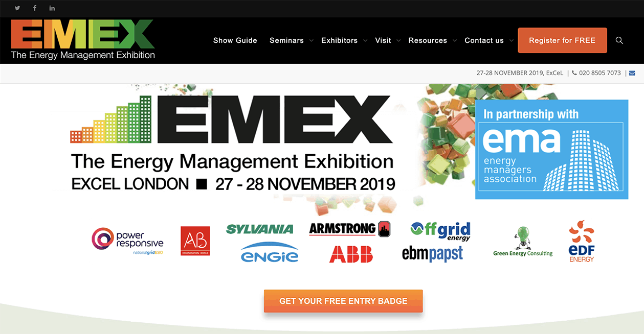 CCPHVAC - The Energy Management Exhibition (EMEX) 2019